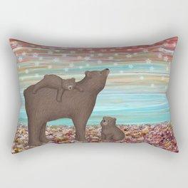 brown bears and stars Rectangular Pillow