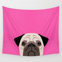 Taylor - Pug dog art phone case for pet lovers and dog people Wall Tapestry