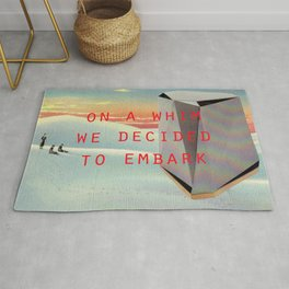 On a whim we decided to embark (Coburg Faceted Table and Sunset) Rug