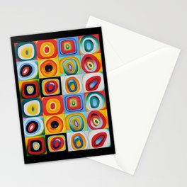 Farbstudie Quardrate by Wassily Kandinsky Stationery Cards