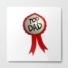 Dad Badge Metal Print