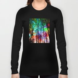 colorful abstract forest Long Sleeve T-shirt