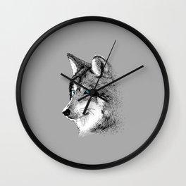 Skecth Wolf Wall Clock