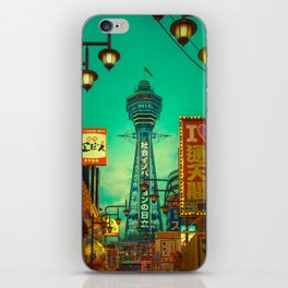 Osaka Nights - Shinsekai, New World / Liam Wong iPhone Skin