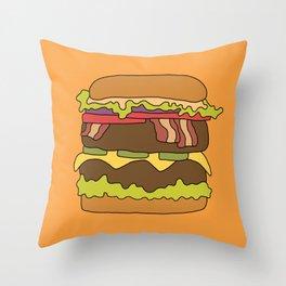 Burger Love Throw Pillow