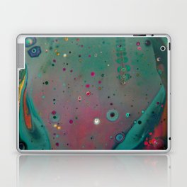 Pink Teal Nebula - Abstract Art by Fluid Nature Laptop & iPad Skin