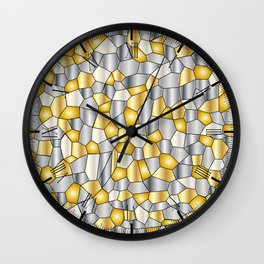 Metalic Mosaic Wall Clock