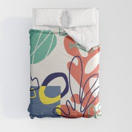 Under the sea coral abstract Comforters