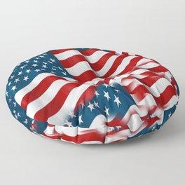 "ORIGINAL  AMERICANA FLAG ART ""STARS N' BARS"" PATTERNS Floor Pillow"