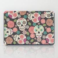 sugar skulls iPad Cases featuring Sugar Skulls by Bohemian Gypsy Jane