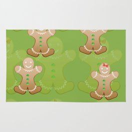Gingerbread boy and girl Rug