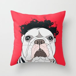 Venice Bulldog Throw Pillow