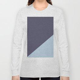 Purple Blue & Light Blue - oblique Long Sleeve T-shirt