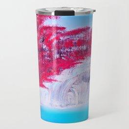 Crimson Cascade Travel Mug