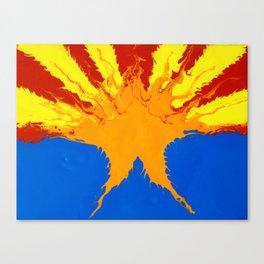 Arizona Flag (Poured Acrylic Style) Canvas Print