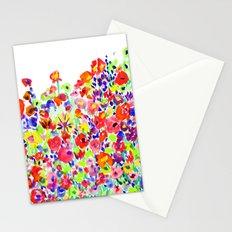 Flower Fields Tangerine Stationery Cards