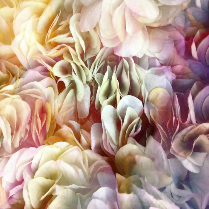 Soft Pastel Petal Ruffles Abstract  Comforters