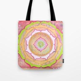 Pink Lotus Mandala Tote Bag