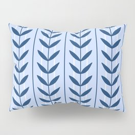 Leafy retro pattern - navy and blue Pillow Sham