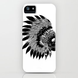 Native American Skull iPhone Case