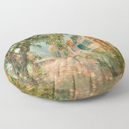 Classical Masterpiece 'Provincetown, Cape Cod' by Frederick Childe Hassam Floor Pillow