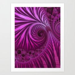 Fascinating Fractal Fantasies Pink Sensation Art Print