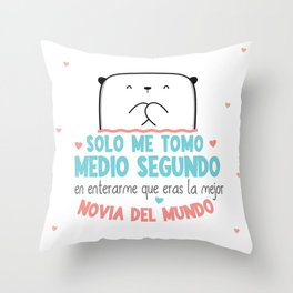 LA MEJOR NOVIA DEL MUNDO Throw Pillow