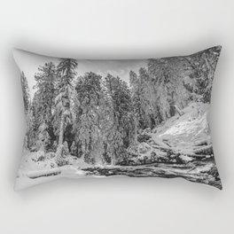 Oregon Adventures Black and White - Nature Photography Rectangular Pillow