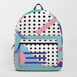 Memphis Pattern 5 - 80s - 90s - Retro Backpack
