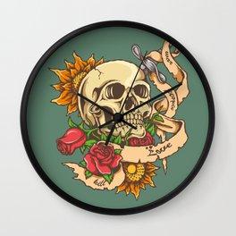 Skull and Sword Wall Clock