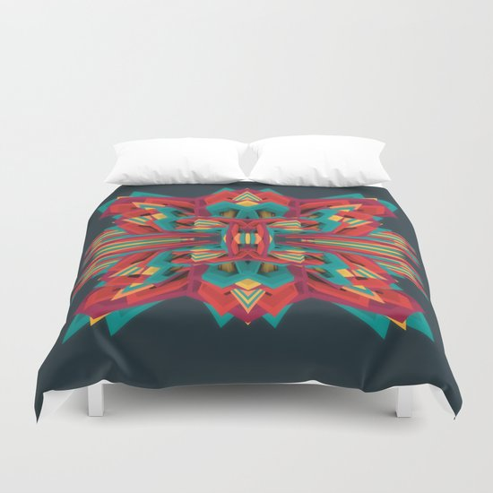 Summer Calaabachti Heart Duvet Cover