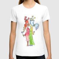 lesbian T-shirts featuring lesbian flower women kiss by Nehalennia