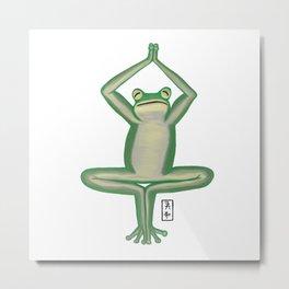 Frog Zenimal Metal Print