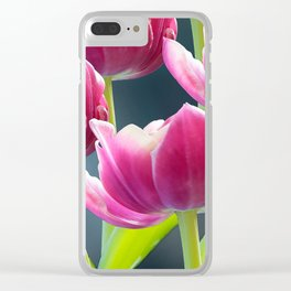Tulip Bouquet Spring Atmosphere #decor #society6 #buyart Clear iPhone Case