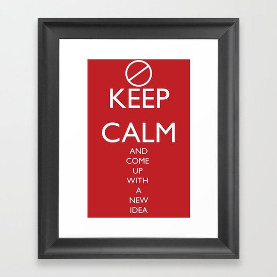Maybe, Don't Keep Calm Framed Art Print