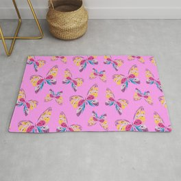 Cute Butterflies Gift for Birthday Colorful Rug