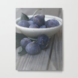Fig Dish - Still Life - fine art Photography, hasselblad, fruit macro photo n° 1 Metal Print