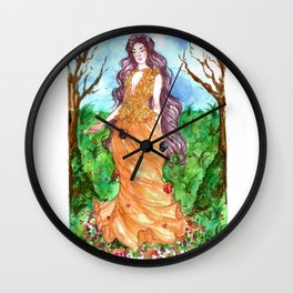 Spring is comming - Persephone Wall Clock