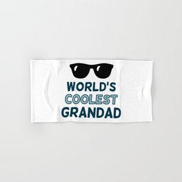 World's Coolest Grandad Hand & Bath Towel
