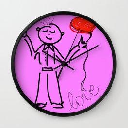 Man in love Wall Clock