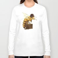 bee Long Sleeve T-shirts featuring Worker Bee by Eric Fan