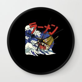 The Great Ramen off Kanagawa Funny Gift Wall Clock