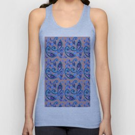 blue Oriental pattern Unisex Tank Top