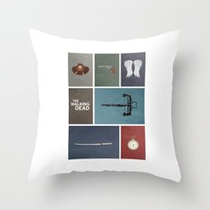Walking Dead (colors) Throw Pillow