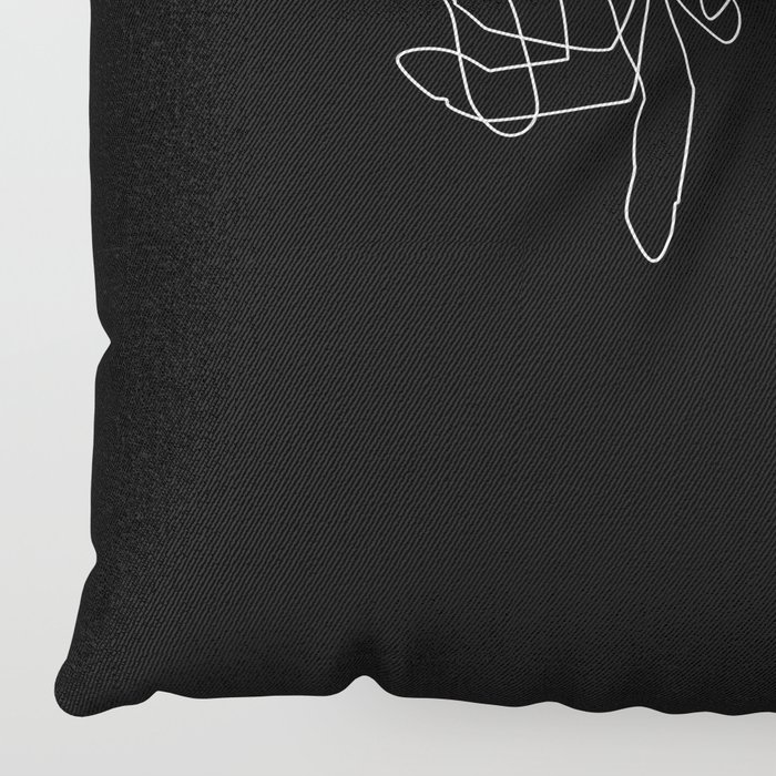 Black Pinky Swear Floor Pillow