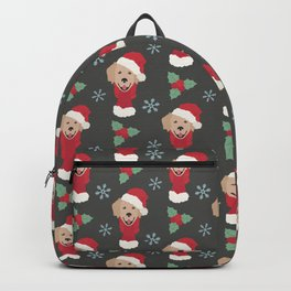 Golden Retriever Christmas Dog Backpack