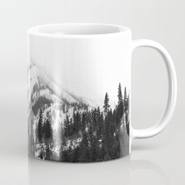 Fading Mountain Winter - Snow Capped Nature Photography Coffee Mug