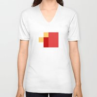 fez V-neck T-shirts featuring FEZ by SLUGSPOON