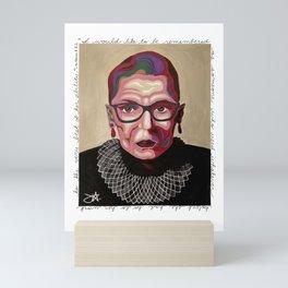 The Notorious RBG PAINTING Mini Art Print