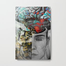 Halloween is coming Human Brain Metal Print
